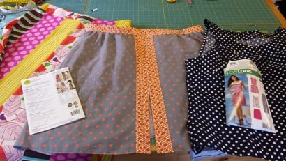 Garment construction workshop. Learning to make your own clothes at All Sewn Up Wales.