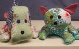 Cassie Cat is a stuffed fabric toy that can be made at the workshop in 3 hours.