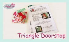Triangle Doorstop Tutorial