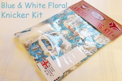 Blue and white floral knicker kit