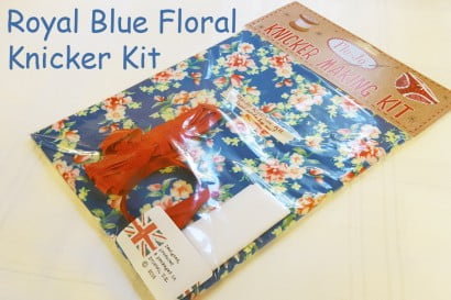 Royal blue floral knicker kit