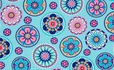 'Floral La Dee Da' Fabric