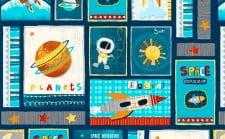 'Space Adventures' Fabric