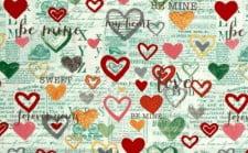 Fabric - 'Vintage Valentine Mint'