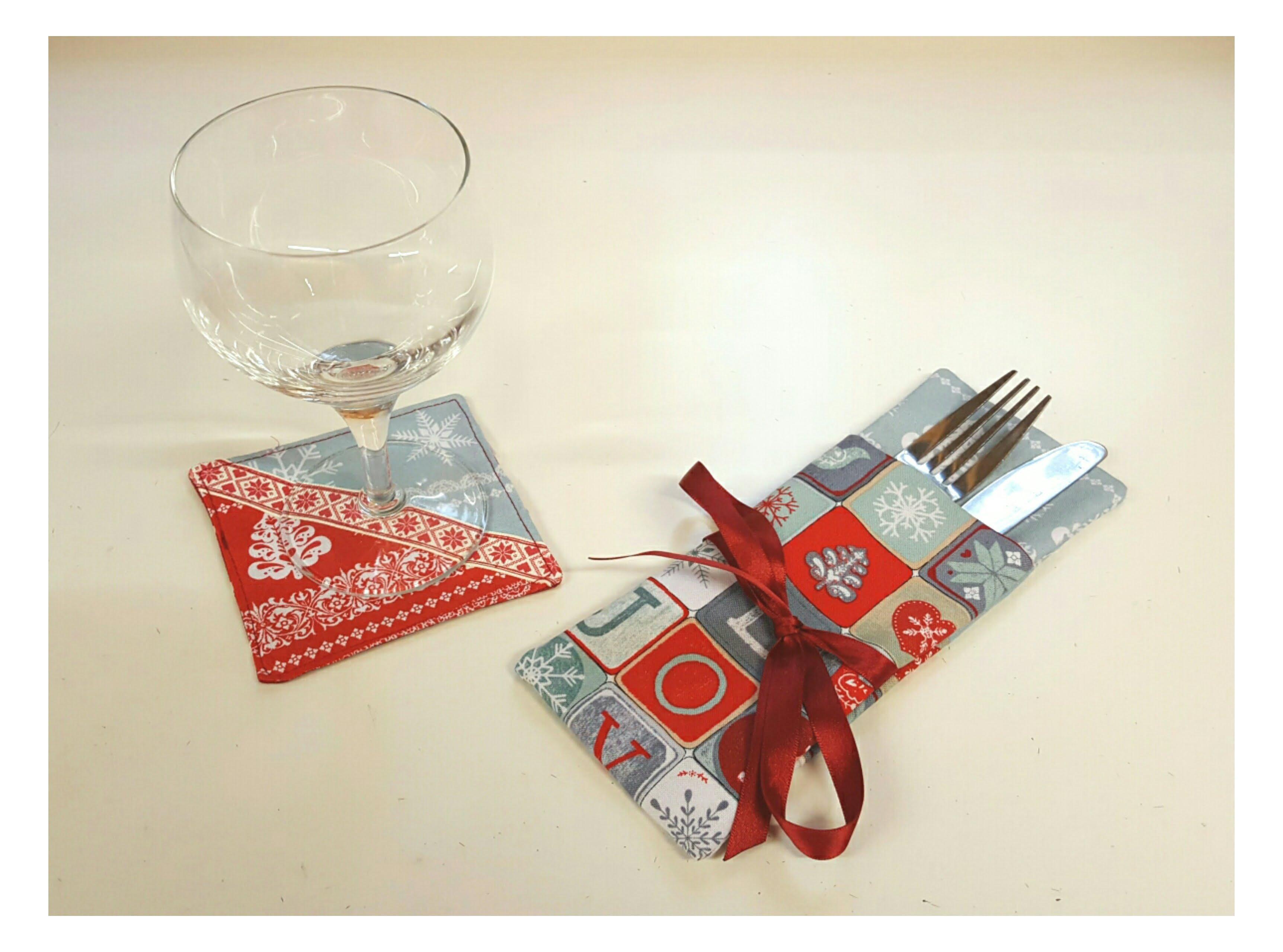 Cutlery Holder & Coaster Fun day