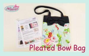 Pleated Bow Bag Tutorial