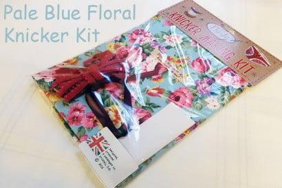 Pale blue floral knicker kit