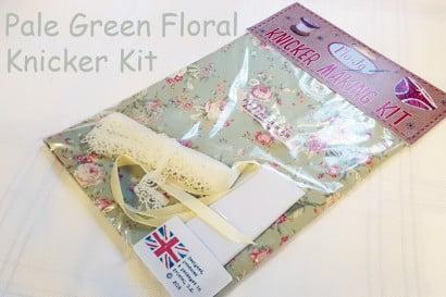 Pale green floral knicker kit
