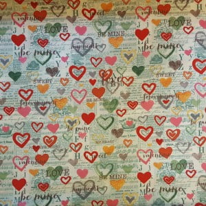 Fabric Vintage Valentine Mint All Sewn Up Wales By Helen Rhiannon