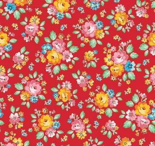 'Arbor Blossom' Red by Nadra Ridgeway for Riley Blake