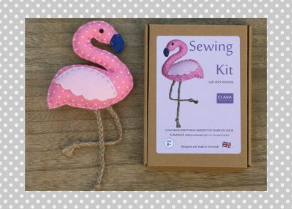 Pink Flamingo Sewing Kit