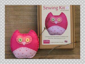 Pink Owl Sewing Kit