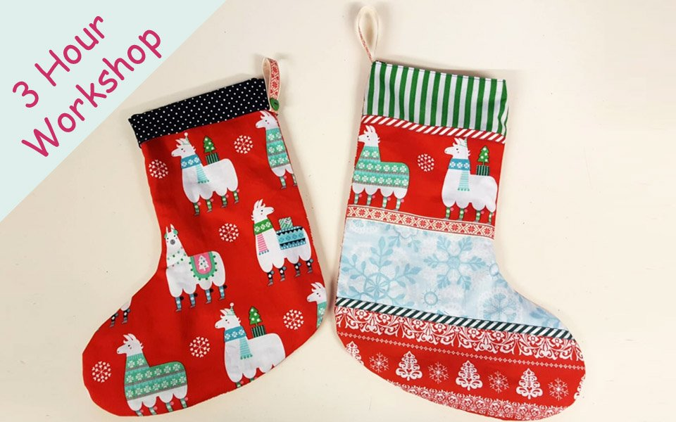 Christmas Stockings All Sewn Up Wales By Helen Rhiannon