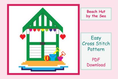 Beach Hut Cross Stitch