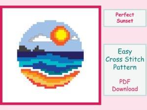 Perfect Sunset Cross Stitch