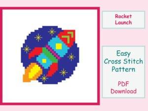 Rocket Launch Cross Stitch