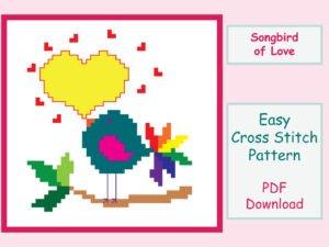 Songbird of Love Cross Stitch