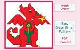 Welsh Dragon Cross Stitch