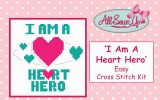 I AM A HEART HERO Cross Stitch Kit