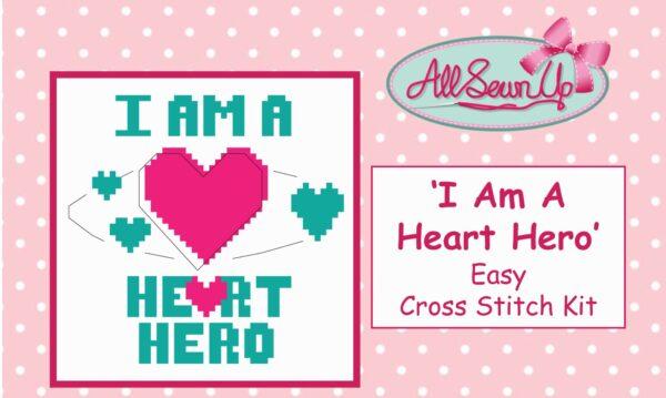 I AM A HEART HERO Cross Stitch Kit