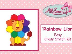 Rainbow Lion Cross Stitch Kit