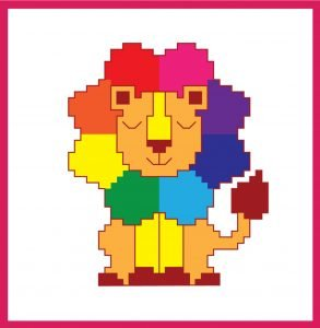 Rainbow Lion Cross Stitch Kit