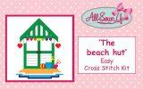 'Beach Hut by the Sea' cross stitch kit