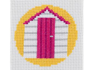 Beach Hut Cross Stitch Kit