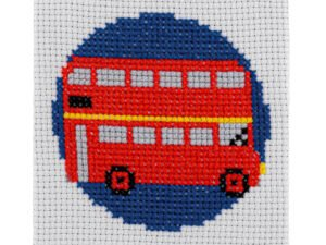 London Bus Cross Stitch Kit