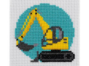 Mini Digger Cross Stitch Kit
