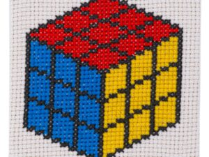 Rubik Cube Cross Stitch Kit