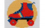 Rollerskate Cross Stitch Kit
