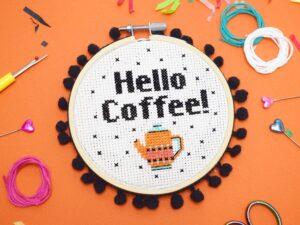 'HELLO COFFEE!' Cross Stitch Kit