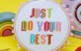 Just Do Your Best cross stitch kit