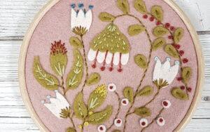 Appliqué Hoop Folk Garden Mini Kit