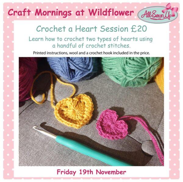 Crochet a Heart session