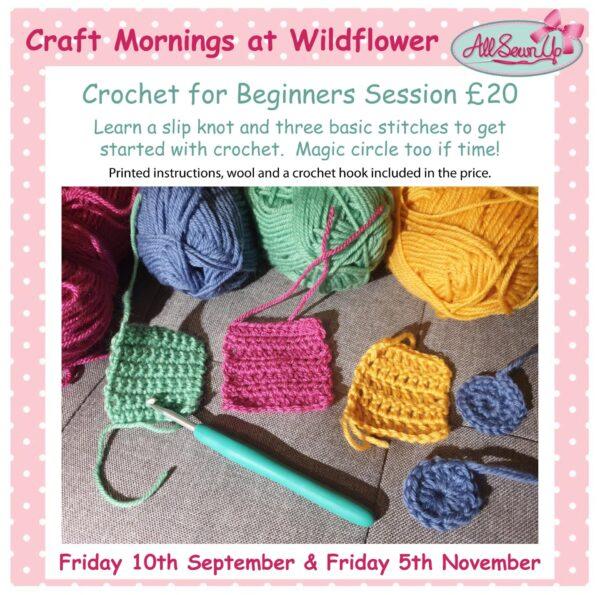 Crochet for Beginners sessions