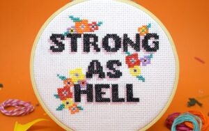 STRONG AS HELL Cross Stitch Kit 1